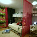 Зонирование комнаты при помощи занавесок