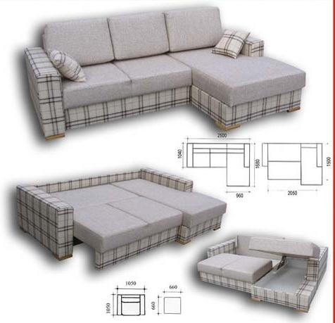 Чертеж будущего дивана