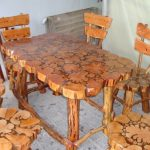 деревянная садовая мебель фото
