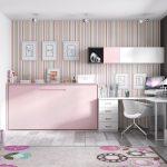 Детская комната для девочки с откидной кроватью