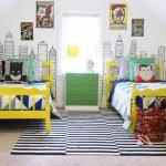Детская комната двух мальчиков в стиле супер героев