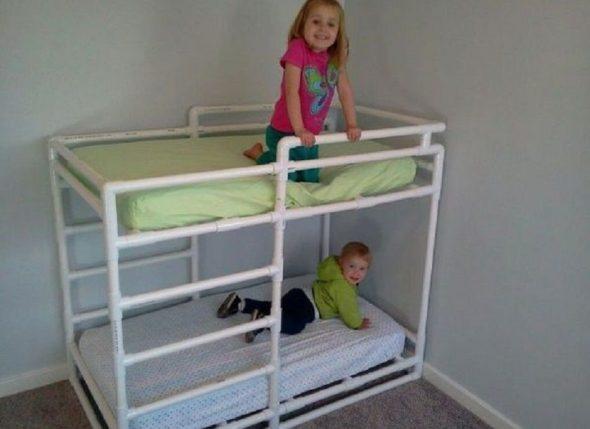 Детская кровать из труб ПВХ