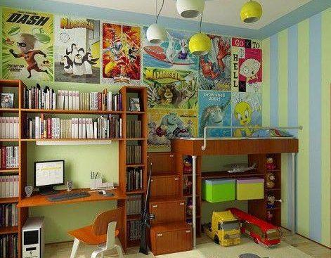 Дизайн интерьера комнаты для подростка-мальчика