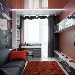 Дизайн спальни для подростка в стиле авангард