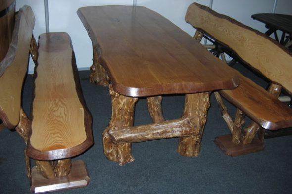 Дубовый комплект мебели