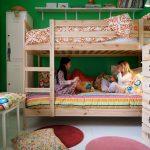 Двухъярусная деревянная кровать Икеа