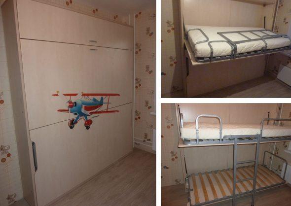 Двухъярусная откидная кровать