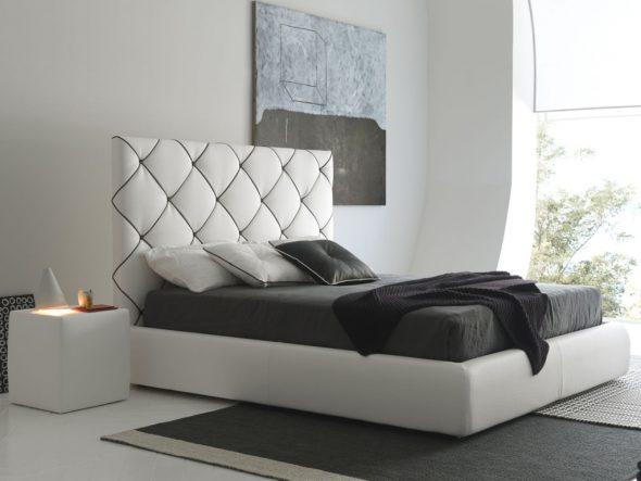 Геометрия в интерьере спальни