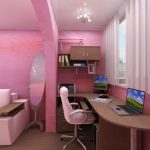 Гламурная розовая комната для девочки