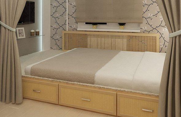 Классическая кровать-подиум