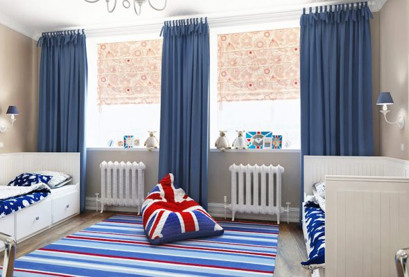 Комната в английском стиле для двух мальчиков