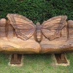 красивая садовая скамейка