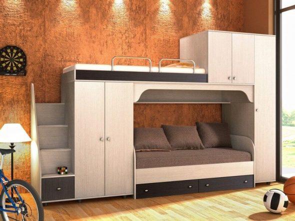Красивая и функциональная кровать-чердак