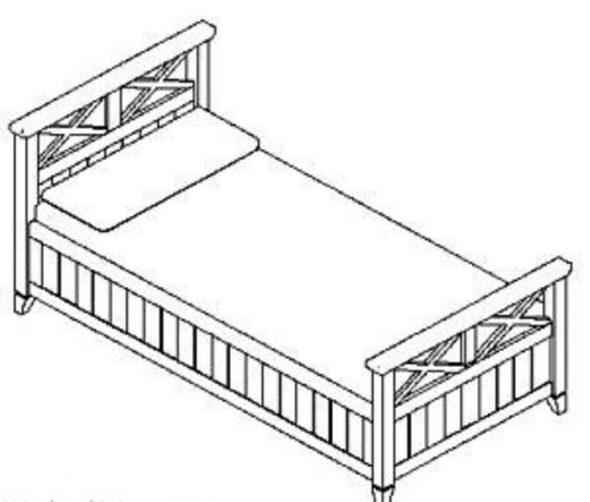 кровать односпальная 90х200 (белый)