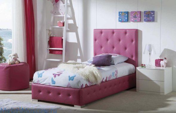 кровать односпальная 90х200 (экокожа)