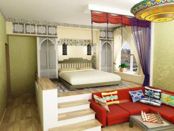 Кровать-подиум с монолитным основанием