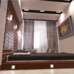 Кровать-подиум возле окна