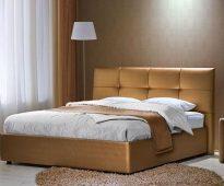 кровать с экокожи