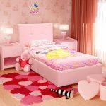Кровать с мягким изголовьем для принцессы