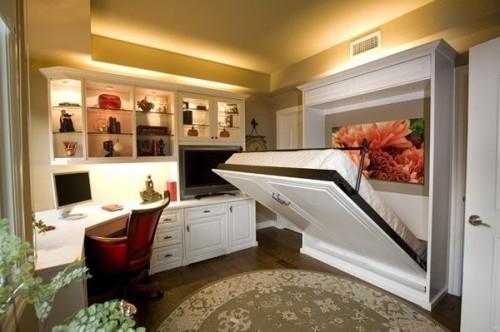 Кровать-шкаф в интерьере