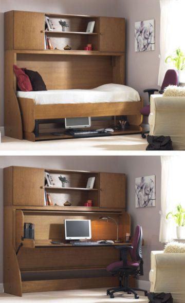 Кровать, трансформирующаяся в стол