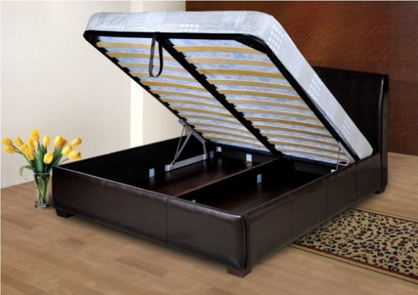 кровати с подъемным механизмом-фото