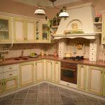 кухня угловая из мебельных щитов фото