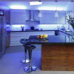 LED освещение в кухонной зоне