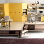 Мебель для подростков с подиумом и выдвижными кроватями