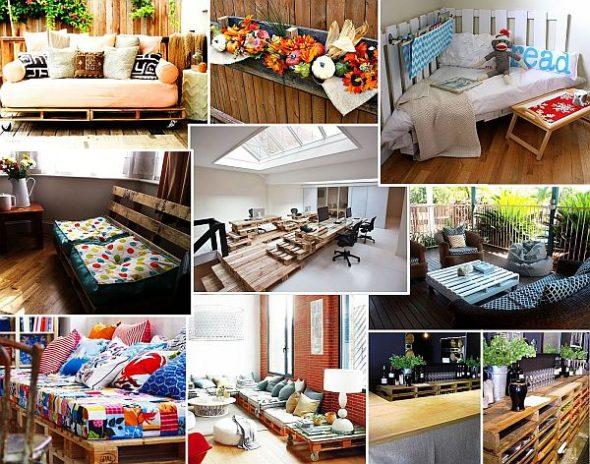 мебели из деревянных транспортных поддонов