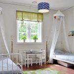Металлические детские кровати с балдахином спинками к окну