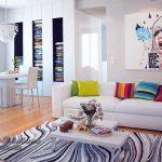 Мягкий домашний декор в квартире-студии