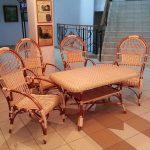 набор плетенной мебели