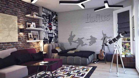 Необычная отделка и оформление комнаты для мальчика-подростка