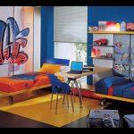 Необычный текстиль в интерьере комнаты подростков