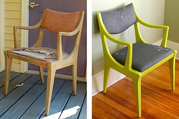 новая яркая жизнь для стула