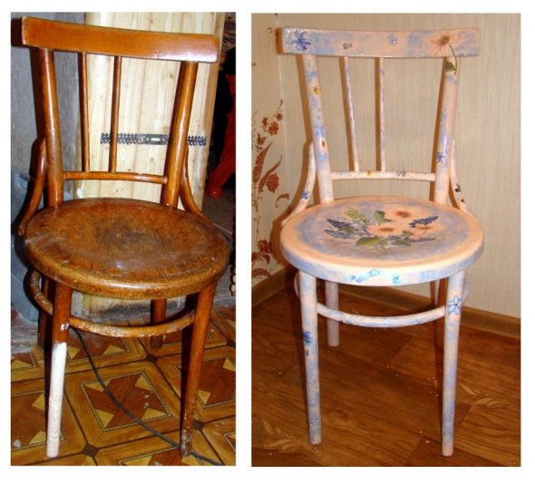 новый стул с цветочками