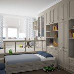 Обустроенный подиум для детского уголка в гостиной