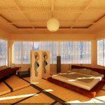 Огромная и красивая спальня с кроватью-подиумом