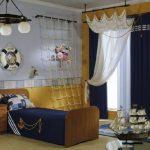 Оригинальная комната в морском стиле