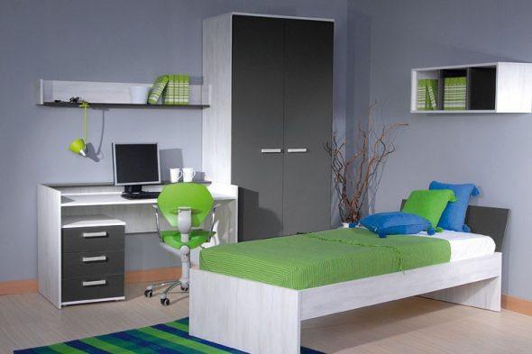 Отличный вариант интерьера для комнаты мальчика-подростка