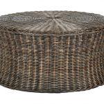 плетенная мебель из искусственного ротанга-пуф