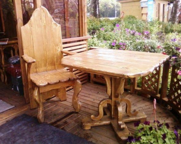 Подбор древесины для уличной мебели