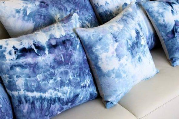 Покраска диванных подушек