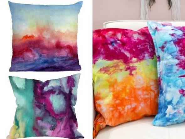 Покраска диванных подушек своими руками