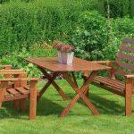 Прекрасная садовая мебель из дерева