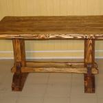 Прочный дубовый стол своими руками