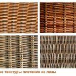 простые текстуры плетения из лозы