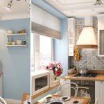 Размещение точечных светильников и люстры на кухне