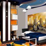 Разнообразие форм и цветов в дизайне комнаты